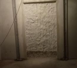 Алмазная резка несущей стены под камин с усилением