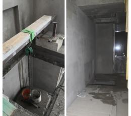 Алмазная резка перекрытий из бетона под лифт с горизонтальным усилением
