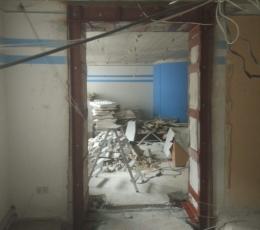 Алмазная резка проемов в стене с усилением согласно проекту