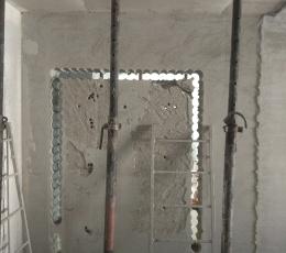 Резка дверных проемов рассверливанием отверстий по контуру