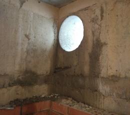 Сверление в бетоне отверстия большого диаметра вплотную к углу