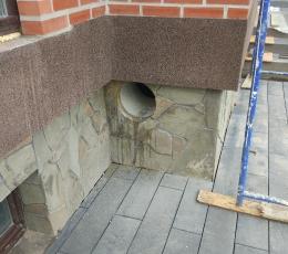 Сверление вентиляционного отверстия в фундаменте