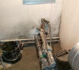 Алмазное сверление в бетоне под трубы