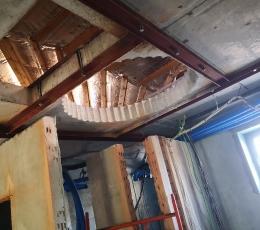 Отверстие в бетонном перекрытии большого диаметра выссверловкой с усилением конструкции