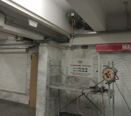 Сверление отверстий в бетоне алмазной коронкой d=250 мм, l=800 мм (Метрополитен)